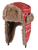 Cute Christmas Deer Protection Ear Lei Feng Warm Anti-snow Hat Knitted Wool Hat