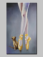 Large Hand Painting Dancer and Puppies Oil Painting On Canvas For Living Room Wall Art Picture Ready to Hang 80x140cm