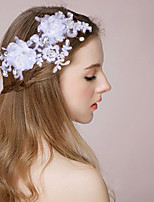Femme / Jeune bouquetière Satin / Imitation de perle Casque-Mariage / Occasion spéciale Serre-tête / Peigne / Fleurs / Pique cheveux1