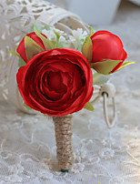 Wedding Flowers Free-form Simple Handmade Roses Boutonnieres