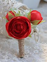 Ramos de Flores para Boda Forma Libre Rosas Ojales Boda / Fiesta / noche Azul / Rosado / Rojo / Beige / Morado Poliéster / Satén