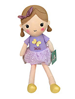 Genuine Spring Girl Doll Plush Toy Doll Baby Doll To Appease Doll Girl Gift Bow Purple Dress Sitting Height 35Cm
