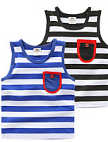 Hot Children Casual Colthing Summer Kids Sleeveless Colorful Rainbow Striped Cotton Boy Vest Beach Dress