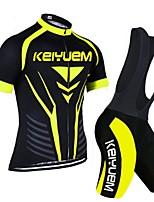 KEIYUEM Radsport Kleidungs-Sets/Anzüge Unisex FahhradAtmungsaktiv / Rasche Trocknung / Staubdicht / tragbar / Tasche auf der Rückseite /