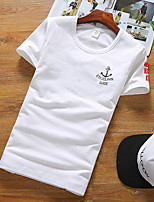 2016 New Men Clothes Solid Color Short Sleeve Slim Fit T Shirt Men 100% Cotton T-Shirt Summer Casual T Shirts