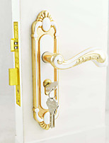 White&Gold Door Lock, Lever Lock, Leverset, Door Lever with 3 Keys