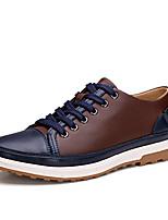 Sapatos Masculinos Oxfords Azul / Marrom / Amarelo Couro Casual / Festas & Noite