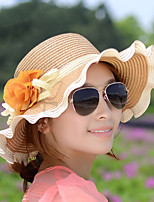 Summer Sun Waves Curl Lace Female Flowers Beach Hat