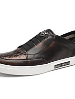 Men's Shoes Office & Career / Casual Leather Loafers Black / Yellow / Red / Silver