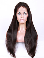 8A unprocessed remy human hair 8-26inches Straight full or lace front wigs for African American Women