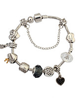 European And American Fashion Mix And Match Peach Heart Bracelet