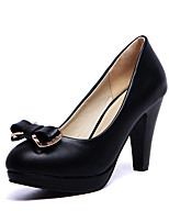 Women's Shoes Patent Leather Cone Heel/Platform/Comfort/Round Toe Heels Outdoor/Casual Black / Blue/Pink/White