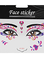 Abstract Pat Nightclubs Party Red Face Sticker LT-012