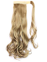 Golden Length 45CM  The New Velcro Curly Wig Horsetail(Color Light brown)