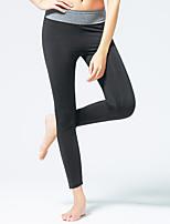 Mujer Carrera Pantalones Yoga / Pilates / Fitness / Deportes recreativos / Ciclismo / Running Transpirable / CapilaridadGris / Negro /