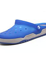 Men's Shoes PU Casual Slippers Casual Flat Heel Black / Blue / Green / Royal Blue