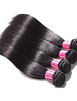 4pcs rectas peruano no procesados vírgenes haces de pelo peruano virginal del pelo humano recto virginal peruana del pelo del pelo