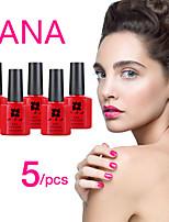 (Choose 5)5 PCS ANA Nail UV 10ml 200 Fashion Color Long-lasting LED Gel Polish Top Fashion