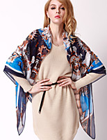Autumn And Winter Female Scarf Shawl Holiday Navy Blue Silk Twill Large Square