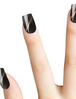 SIOUX Cat Eye Black Glitters 6ML Nail Glue Nail Polish for 2 Years