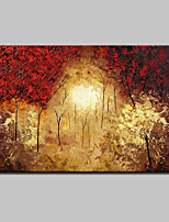 Large Hand-Painted Modern Landscape Tree Oil Painting On Canvas One Panel With Frame Ready To Hang 90x140cm