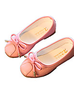 Girls' Shoes Dress / Casual Comfort Leatherette Flats Black / Pink / White