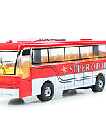 Dibang -2941 children's toy car model alloy light music bus toy stall selling toys (2PCS)