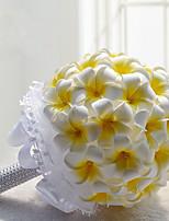 Bouquets de Noiva Redondo Lírios / Peônias Buquês Casamento / Festa / noite Amarelo Poliéster / Cetim / Espuma 7.87