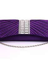 Women-Formal / Event/Party / Wedding-Satin-Evening Bag-White / Purple / Gold / Silver / Black