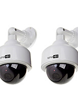 dummy speed dome camera gesimuleerd bewakingscamera 2 stuks wit