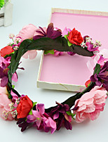 Women's / Flower Girl's Fabric Headpiece-Wedding / Special Occasion / Casual / Outdoor Wreaths 2 Pieces