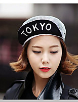 Unisex Cotton Printed Stripe Letter Embroidery Baseball Cap Hip-hop Visor Hat