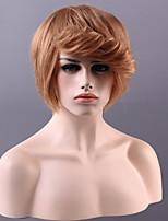 sin tapa de alta calidad a corto ondulado mono superior del pelo humano remy virginal pelucas 15 colores para elegir
