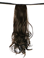 Wig Brown 50CM High-Temperature Wire Strap Style Long Hair Ponytail Colour 8