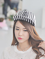 Unisex Vintage Casual Men And Women Black And White Zebra Striped  Baseball Cap