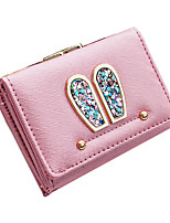 Women-Casual-Other Leather Type-Clutch-Pink / Blue / Black / Fuchsia