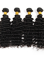 4 Pc/Lot Brazilian Virgin Hair Weave Deep Curly Hair Real Human Hair Extensions Unprocessed Natural Color 95-100g/pc