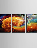 E-HOME® Stretched LED Canvas Print Art  Colorful Clouds LED Flashing Optical Fiber Print Set of 3