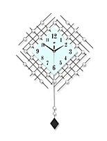 Modern Creative Fashion Pendulum Metal Mute Wall Clock