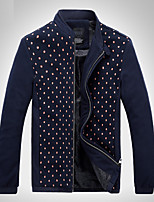 Men's Long Sleeve Jacket,Cotton / Acrylic / Polyester Casual Print 916177