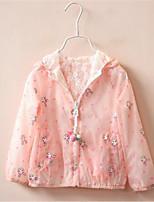 Girl's Casual/Daily Print Hoodie & Sweatshirt,Rayon Summer Blue / Pink / White