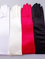 Opera Length Fingertips Glove Satin / Elastic Satin Bridal Gloves / Party/ Evening Gloves