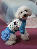 Dog Dress Blue Dog Clothes Summer / Spring/Fall Polka Dots Cute / Fashion