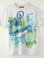 Boy's Polyester Tee,Summer Print