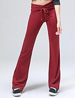 Pantalones de yoga Pantalones Transpirable / Reductor del Sudor Cintura Media Eslático Ropa deportiva Rojo / Negro Mujer OtrosYoga /