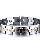 Men's Jewelry Health Care Silver Stainless Steel Magnetic Bracelet