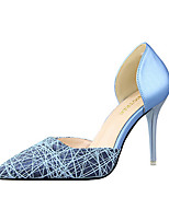 Women's Shoes Leatherette Stiletto Heel Heels Heels Party & Evening / Casual Black / Blue / Pink / White / Silver / Gold