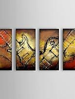 Handpainted oil painting Guitar Music Instrument Abstract home Decoration Office Wall Art Decor with Stretched Framed