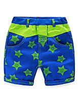 Children Pants For Boys Trousers Girls Clothing Stars Printed Fashion Blue Green Kids Casual Pants