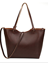 Women-Formal / Event/Party-Sheepskin-Tote-Brown / Black